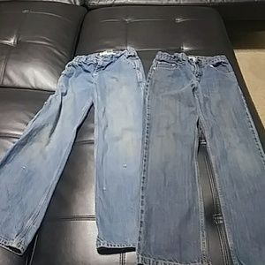2 pairs boys jeans size 12